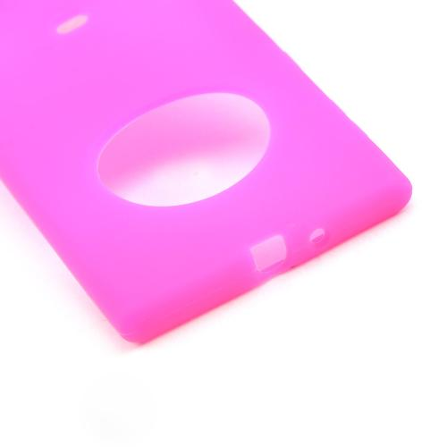 Hot Pink Silicone Skin Case for Nokia Lumia 1020
