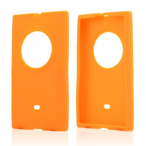 Orange Silicone Skin Case for Nokia Lumia 1020