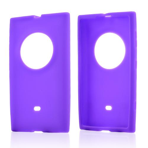 Purple Silicone Skin Case for Nokia Lumia 1020