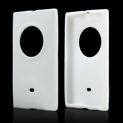 White Silicone Skin Case for Nokia Lumia 1020