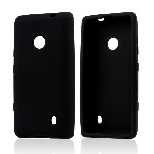 Black Silicone Case for Nokia Lumia 521