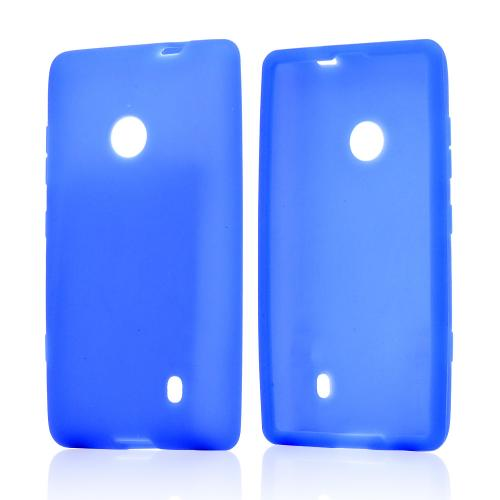 Blue Silicone Case for Nokia Lumia 521