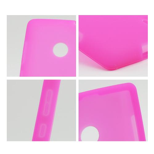 Hot Pink Silicone Case for Nokia Lumia 521