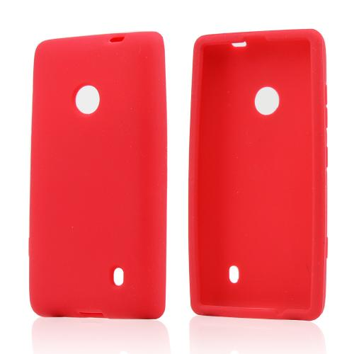 Red Silicone Case for Nokia Lumia 521