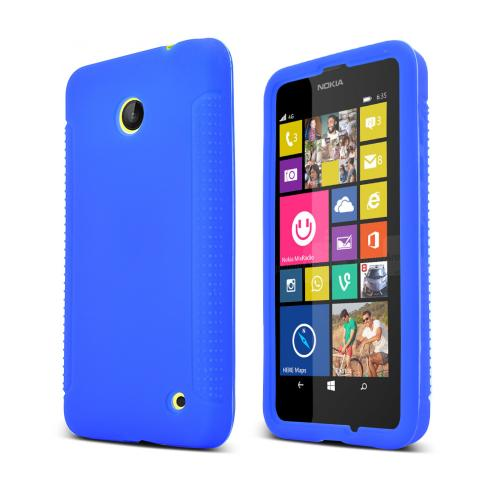 Manufacturers Blue Nokia Lumia 635 Silicone Skin Case Cover, Great Simple Protection! Skins