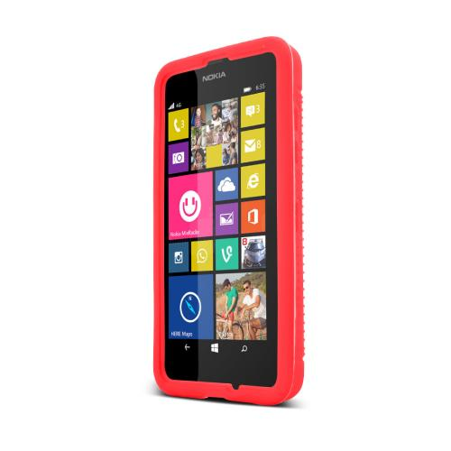 Red Nokia Lumia 635 Silicone Skin Case Cover, Great Simple Protection!