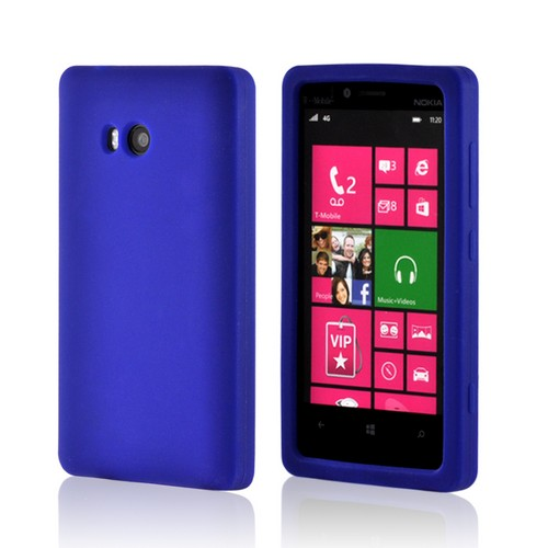 Blue Silicone Case for Nokia Lumia 810