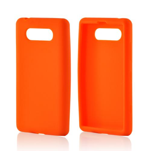 Orange Silicone Case for Nokia Lumia 820