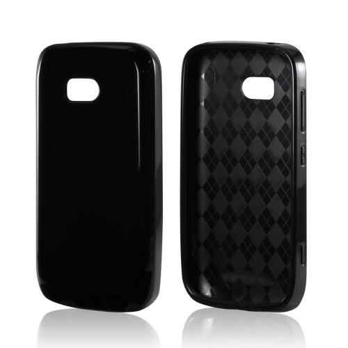 Black (Argyle Interior) Crystal Silicone Case for Nokia Lumia 822