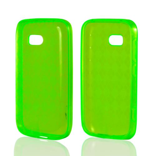 Green Argyle Crystal Silicone Case for Nokia Lumia 822