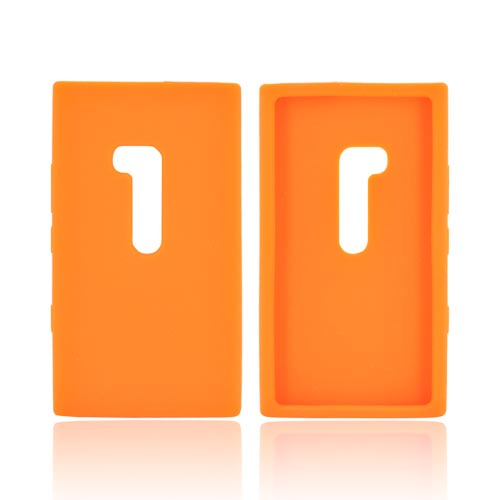 Nokia Lumia 900 Silicone Case - Orange