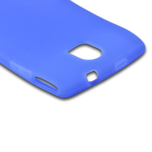 Blue Silicone Case for Pantech Discover