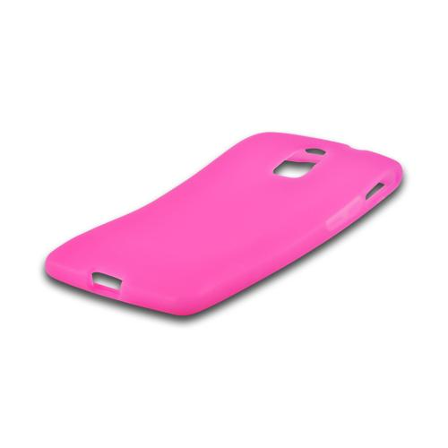 Hot Pink Silicone Case for Pantech Discover