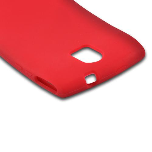 Red Silicone Case for Pantech Discover