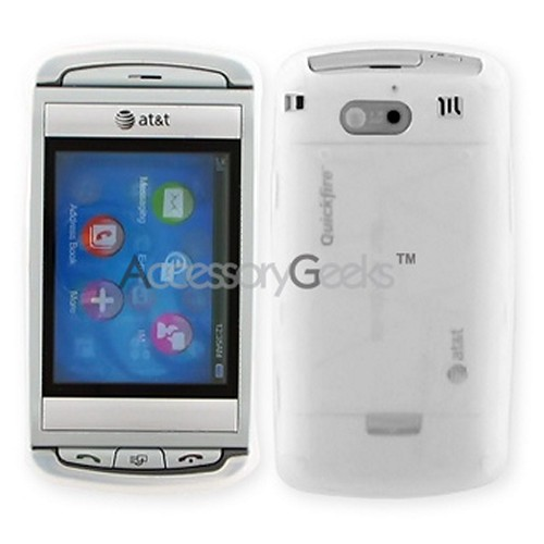 AT&T Quickfire Silicone Case, Rubber Skin - Frost White