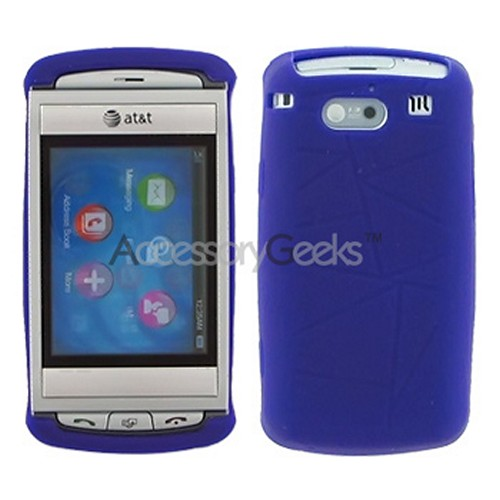 AT&T Quickfire Silicone Case, Rubber Skin - Purple