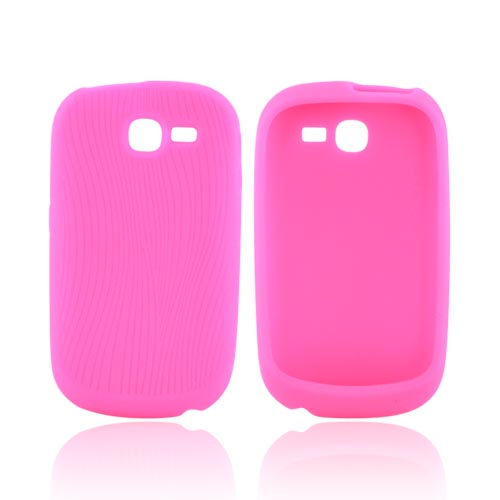 Samsung A187 Silicone Case - Hot Pink Design