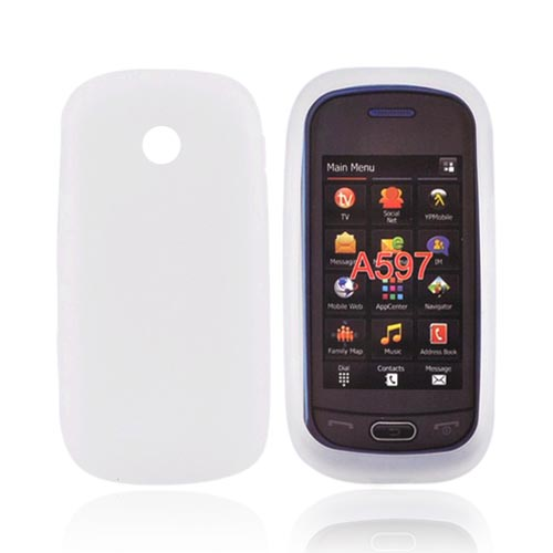Luxmo Samsung Eternity 2 A597 Silicone Case - Frost White