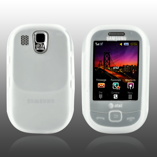 Samsung Flight A797 Silicone Case, Rubber Skin - Frost White