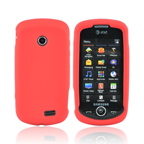 Samsung Solstice II A817 Silicone Case - Red