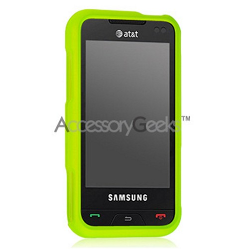Samsung Eternity Silicone Case, Rubber Skin - Neon Green