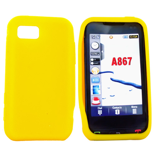 Samsung Eternity A867 Silicone Case, Rubber Skin - Mustard Yellow