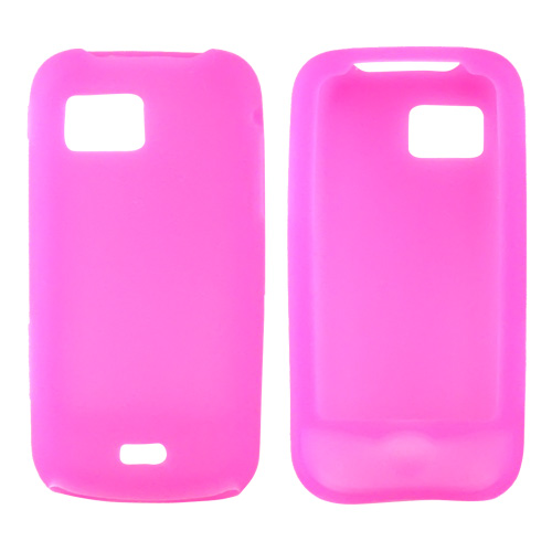 Samsung Mythic A897 Silicone Case, Rubber Skin - Hot Pink