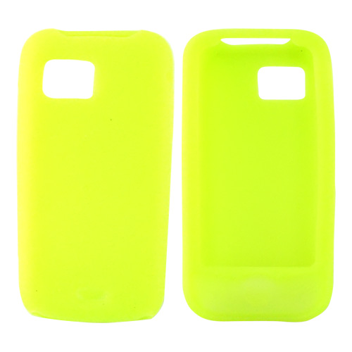 Samsung Mythic A897 Silicone Case, Rubber Skin - Neon Green