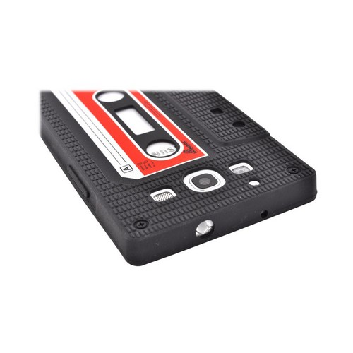 Samsung Galaxy S3 Silicone Case - Black Cassette Tape