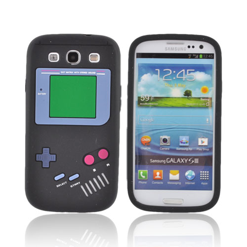 Samsung Galaxy S3 Silicone Case - Black Retro Pocket Gamer