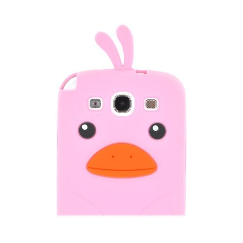 Samsung Galaxy S3 Silicone Case - Baby Pink Duck