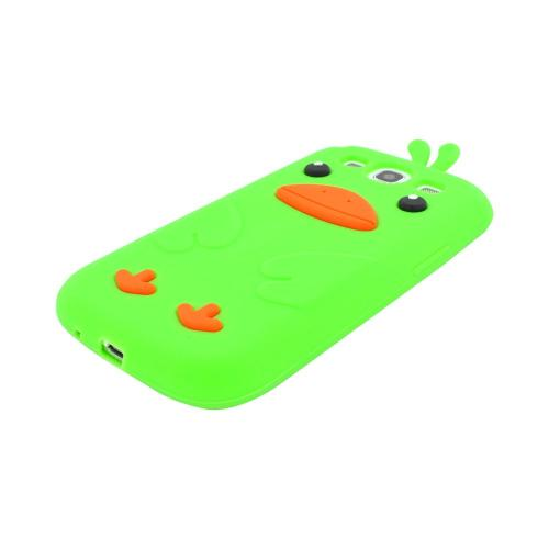 Samsung Galaxy S3 Silicone Case - Lime Green Duck