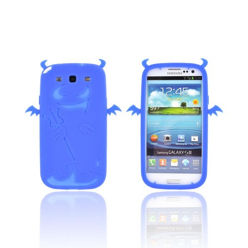 Samsung Galaxy S3 Silicone Case - Blue Devil w/ Horns