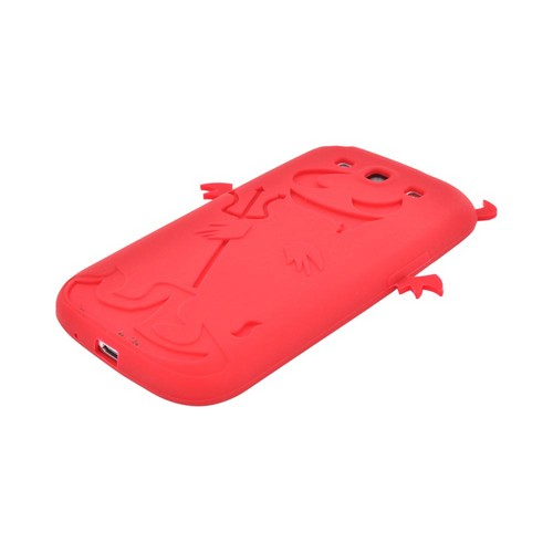 Samsung Galaxy S3 Silicone Case - Red Devil w/ Horns