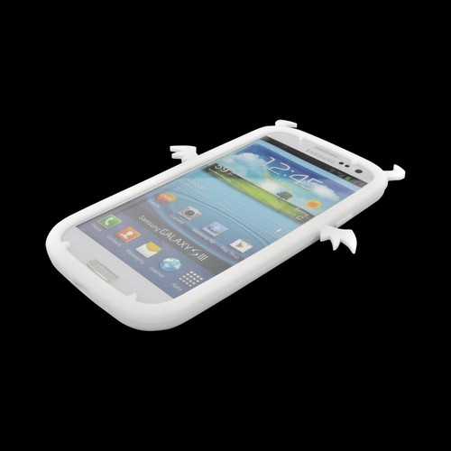 Samsung Galaxy S3 Silicone Case - White Devil w/ Horns