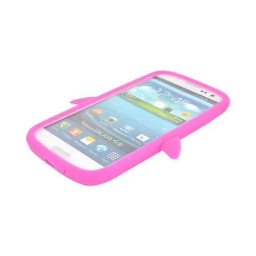 Samsung Galaxy S3 Silicone Case - Hot Pink Penguin