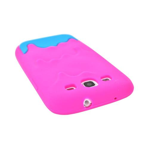 Samsung Galaxy S3 Silicone Case - Hot Pink/ Blue Melt Design