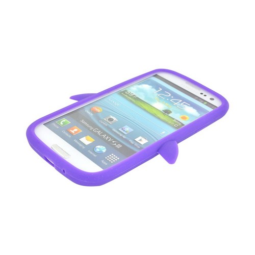Samsung Galaxy S3 Silicone Case - Purple Penguin