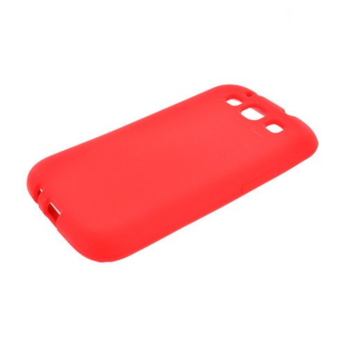 Samsung Galaxy S3 Silicone Case - Red