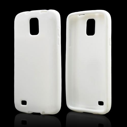 White Silicone Skin Case for Samsung Galaxy S4 Active