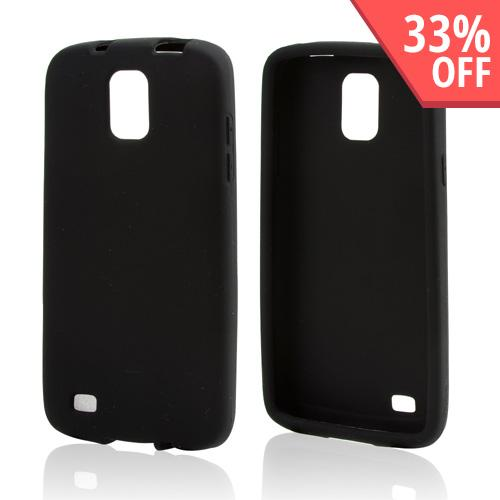 Black Silicone Skin Case for Samsung Galaxy S4 Active