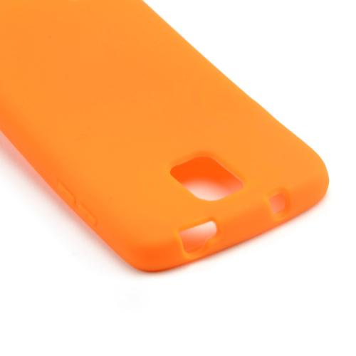 Orange Silicone Skin Case for Samsung Galaxy S4 Active