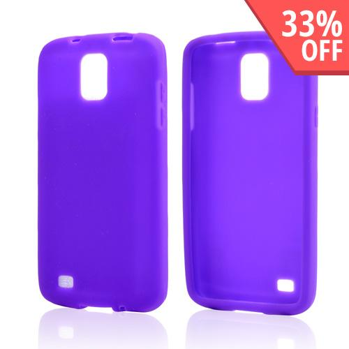 Purple Silicone Skin Case for Samsung Galaxy S4 Active