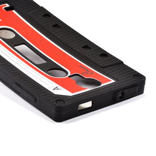 Black Cassette Silicone Case for Samsung Galaxy S4