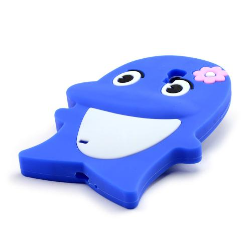 Blue Dolphin Silicone Skin Case for Samsung Galaxy S4