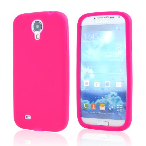Hot Pink Silicone Case for Samsung Galaxy S4
