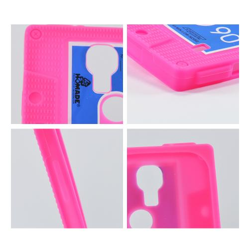 Hot Pink Cassette Silicone Case for Samsung Galaxy S4