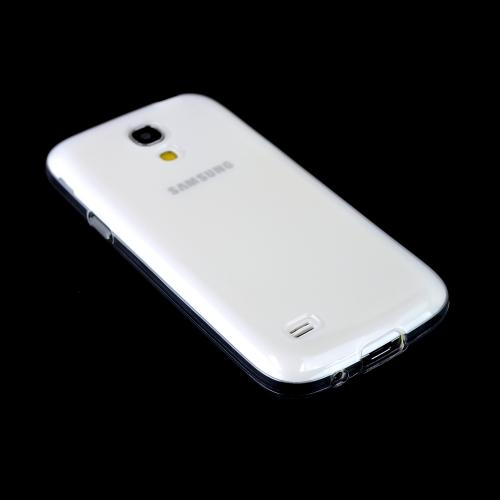Clear w/ Frosted Back Crystal Silicone Skin Case for Samsung Galaxy S4 Mini