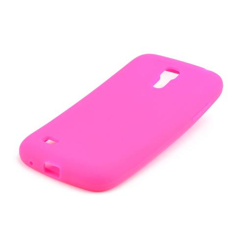Hot Pink Silicone Skin Case for Samsung Galaxy S4 Mini