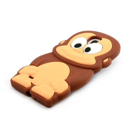 Brown Monkey Silicone Skin Case for Samsung Galaxy S4